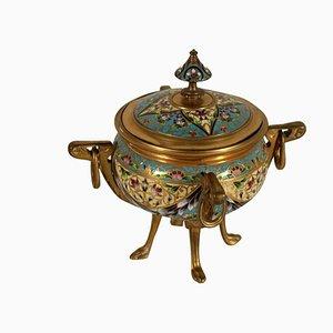 Jarrón francés de bronce, siglo XVIII