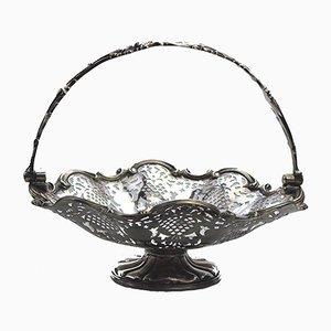 Antique Pierced Silver Plate Basket from Elkington, 1848