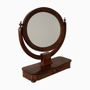 Specchio da tavolo in legno di noce, Italia, inizio XIX secolo