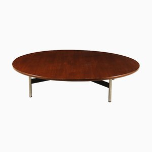 Italian Teak Veneer & Metal Coffee Table, 1960s