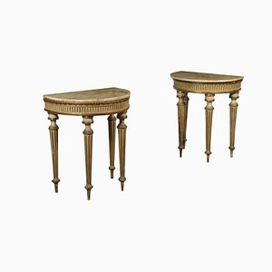 18th-Century Italian Console Tables, Set of 2