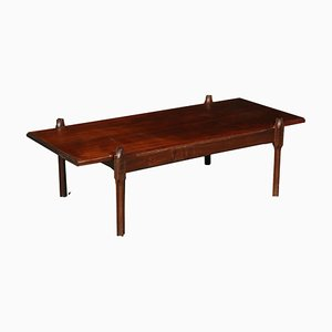 Vintage Italian Rosewood Coffee Table, 1960s