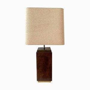 Lámpara de mesa de cobre y latón de Belgo Chrom, años 70