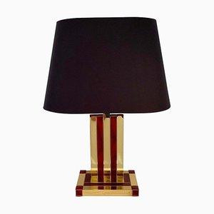 Lampade da tavolo in ottone e resina di Willy Rizzo per Lumica, anni '70