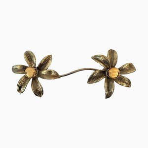 2 Flower Wall Sconce by Willy Daro, 1970s