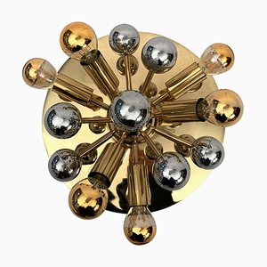 Goldene Deckenlampe aus Metall, 1970er