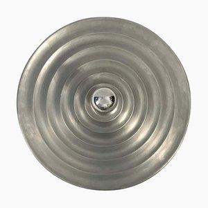 Aplique de pared era espacial vintage de aluminio