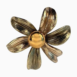 Flower Wall Sconce by Willy Daro, 1970s
