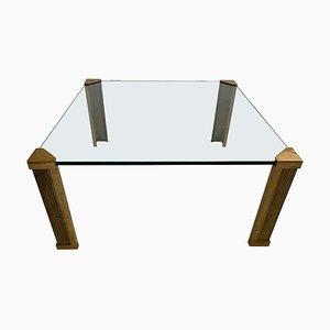 Brass & Glass T14 Coffee Table by Peter Ghyczy, 1970s