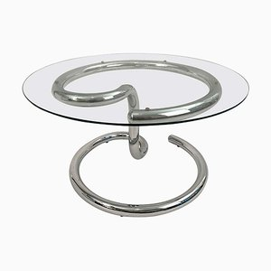 Chrome Anaconda Side Table by Paul Tuttle for Strässle, 1970s