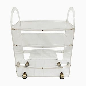 Lucite Serving Bar Cart, 1970s