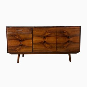Polish Walnut Veneered Sideboard, 1960s