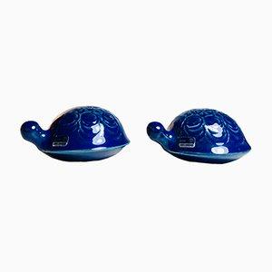 Schildkrötenfiguren aus Keramik von Lisa Larson, 1960er, 2er Set