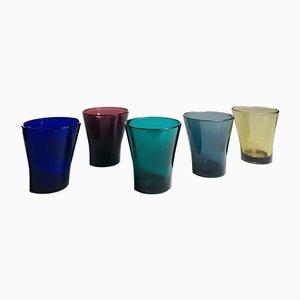 Bicchieri Mid-Century di Kaj Franck per Nuutajärvi Kartio, set di 5