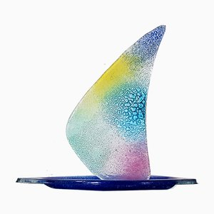 Italy Murano Glass Sailboat
