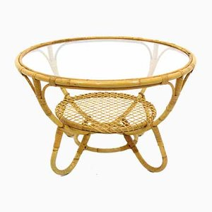 Vintage Rattan Coffee Table, 1970s