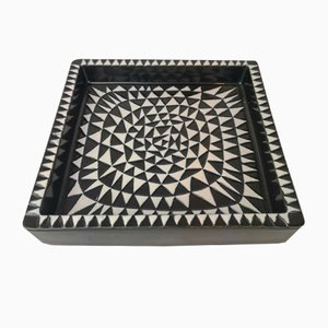 Mid-Century Domino Ceramic Tray by Stig Lindberg for Gustavsberg
