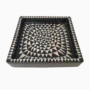 Plateau Domino Mid-Century en Céramique par Stig Lindberg pour Gustavsberg