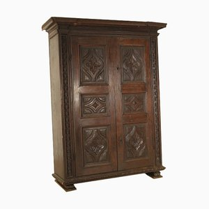 Solid Walnut Wardrobe, 1600s