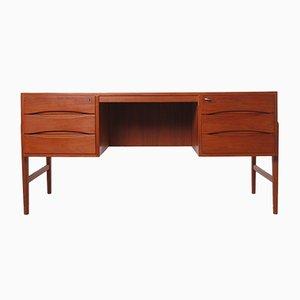 Freistehender Schreibtisch aus Teak, 1960er