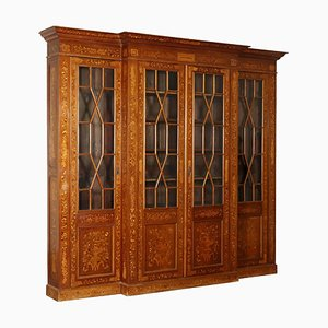 Large Antique Maple & Mahogany Cabinet