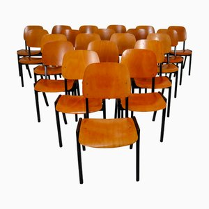 Bicolored Stacking Chairs by Roland Rainer, 1960s, Set of 50