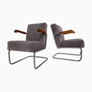 Bauhaus Armchairs by Thonet, 1930s, Set of 2