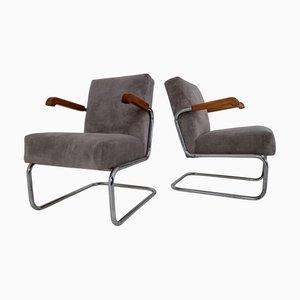 Bauhaus Sessel von Thonet, 1930er, 2er Set
