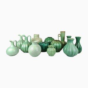 Jarrones Art Déco de cerámica. Juego de 13