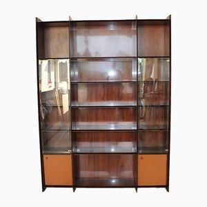 Mueble Artona de palisandro y vidrio de Tobia & Afra Scarpa para B&B Maxalto, años 70