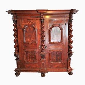 Baroque Swiss Walnut Cupboard, 1720s