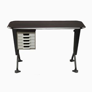 Small Mid-Century Italian Arco Desk by BBPR for Olivetti Arredamenti, 1960s
