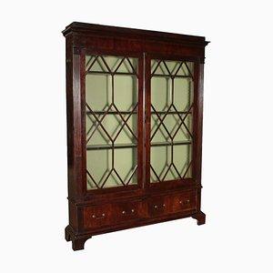 19th Century English Glass & Wood Cabinet
