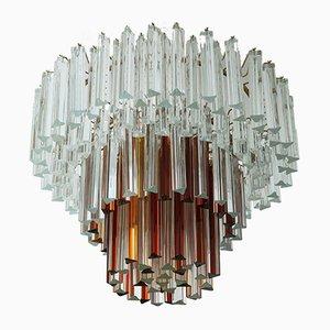 Lampada da soffitto in vetro di Murano di Paolo Venini