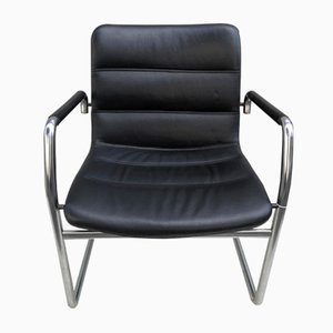 Tubular Leather Armchair, 1970s