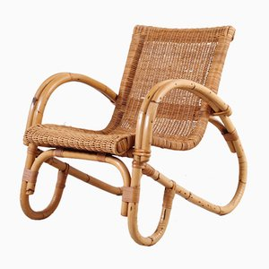 Sessel aus Bambus & Rattan, 1950er