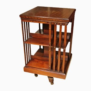 Antique Revolving Bookcase with Inlay from Maple & Co
