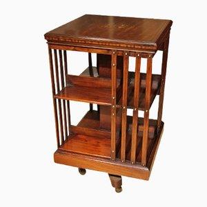 Bibliothèque Antique Rotative avec Incrustation de Maple & Co