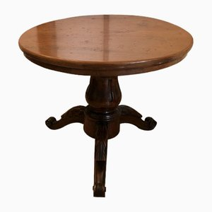 Table Basse Ronde Vintage en Noyer