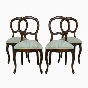 Antique Baroque Dining Chairs, Set of 4