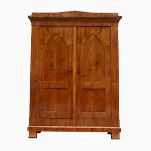 Cherry Biedermeier Armoire, 1880s