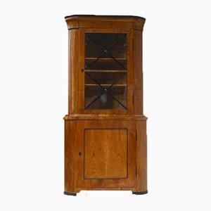 Biedermeier Corner Display Case, 1830s