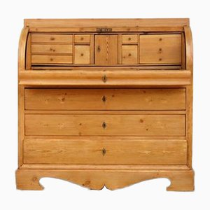 Antique Biedermeier Pine Secretaire