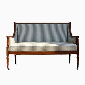 Englisches Sofa mit Gestell aus Mahagoni, 1890er