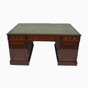 Schreibtisch aus Mahagoni & Eiche, 1840er