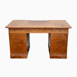 Art Deco Birch Wood Writing Desk, 1920s