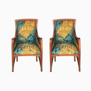 Art Nouveau Armchairs, 1910s, Set of 2