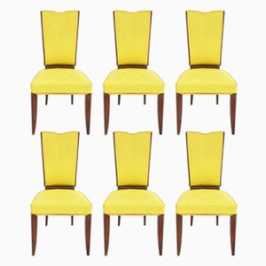 Art Deco Chairs, 1925, Set of 6