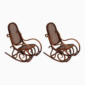 Children's Rocking Chairs from Thonet, 1880s, Set of 2