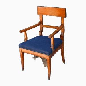 Biedermeier Cherry Wood Armchair, 1830s